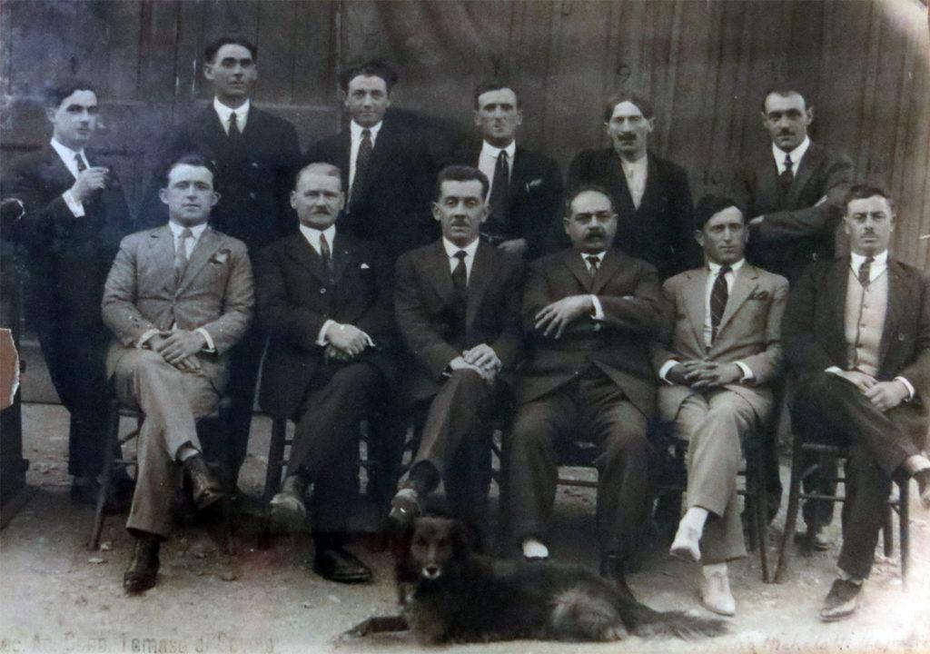 I soci Fondatori del Cantiere Valdettaro in una foto del 1917